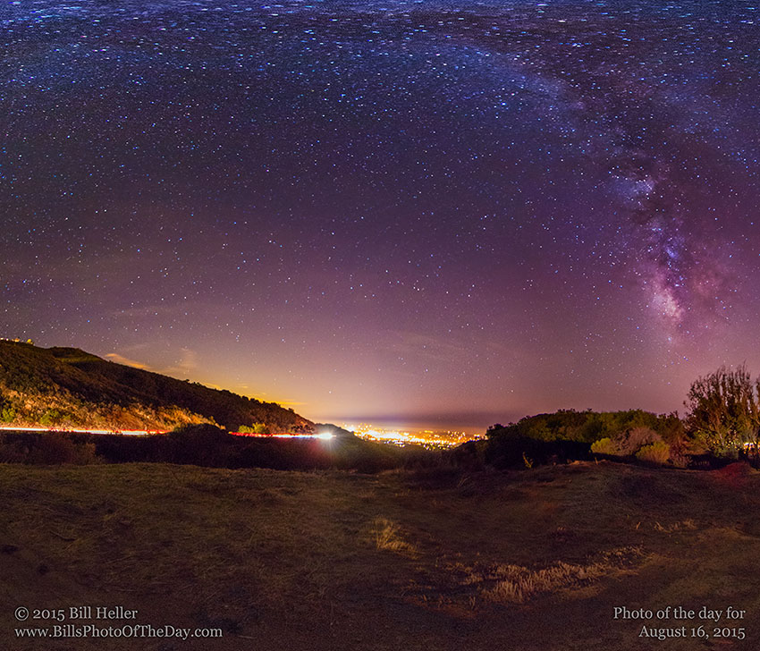 Milky Way from the Santa Barbara Foothills