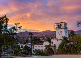 Monday, August 17, 2015 - Santa Barbara Courthouse Mountain Sunset