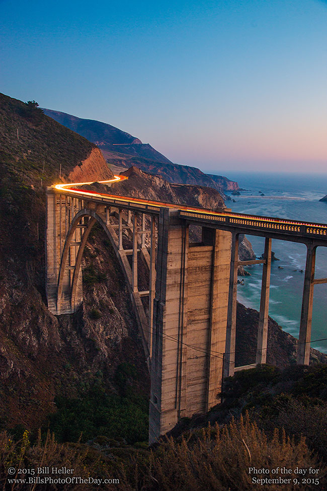 Bixby Creek Bridge Twilight