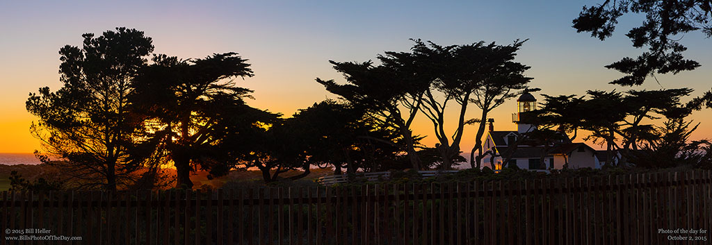 Point Pinos Sunset Panorama