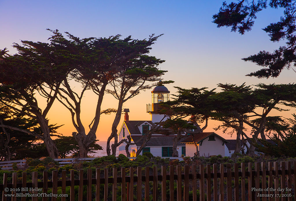 Point Pinos Lighthouse at Golden Hour