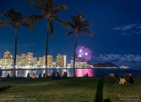 Wednesday, December 4, 2019 - Waikiki Fireworks Cityscape